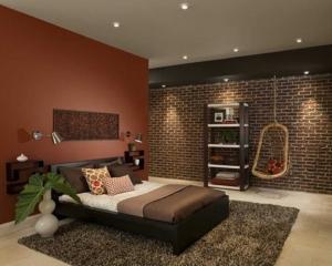 Culorile si nuantele caramizii in amenajari interioare
